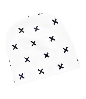 Hue med kryds print