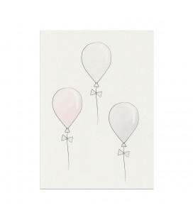 My mini label - Balloon Rosa A4