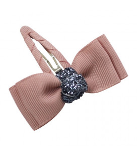 Bow`s by Stær spænde med glimmer - Antique rose