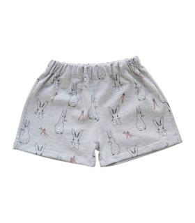 Shorts med kaniner - Grå