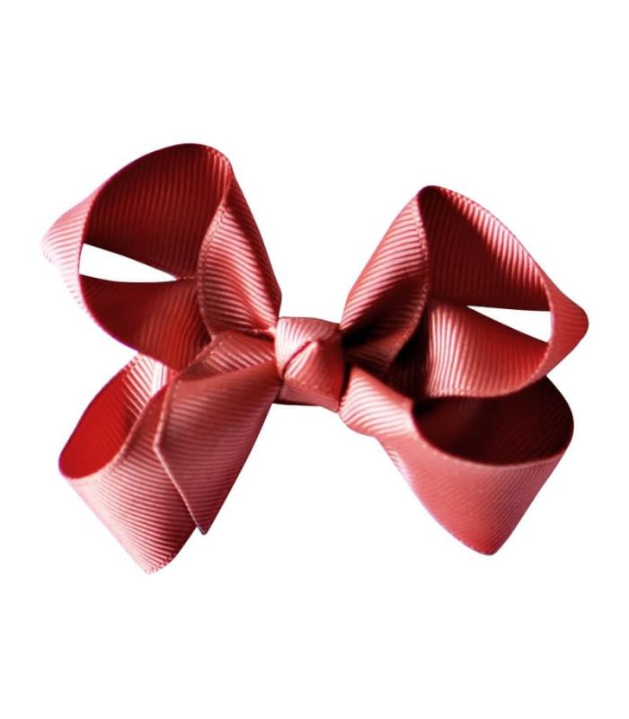 Bows by stær sløjfe 8 cm. - Rust rød