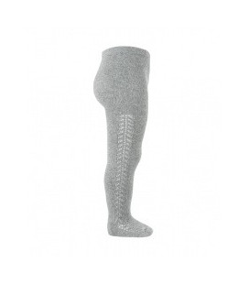 Grå strømpebukser fra Cóndor med hulmønster - grå