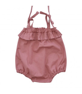 Shorts med bindebånd - rust rød