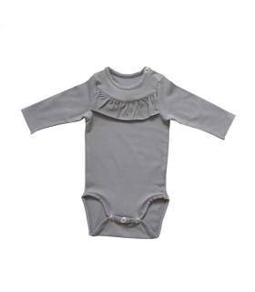 Bodystocking til baby - koksgrå - Petitflora