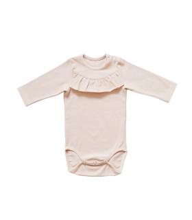 Langærmet body baby - Rosa - Petitflora