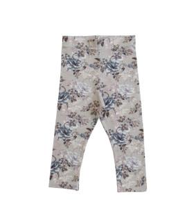 Leggings med blomsterprint - grå
