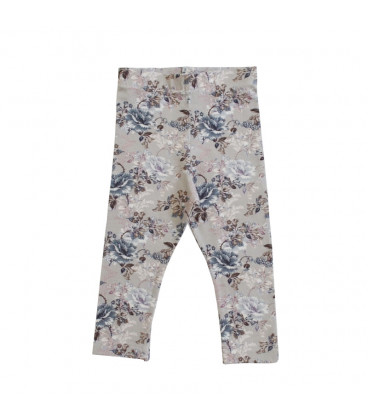 Leggings med blomsterprint - grå