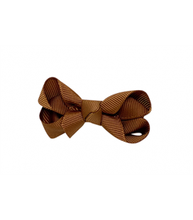 Bow`s by stær sløjfe - Golden brown - 8 cm