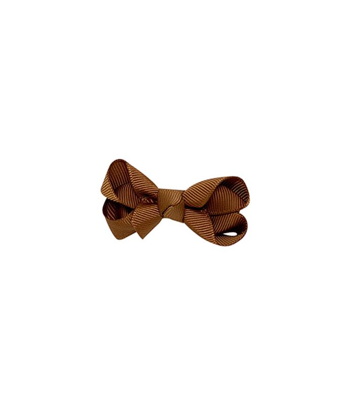 Bow`s by stær sløjfe - Golden brown - 8 cm