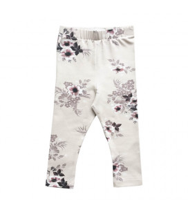 Petitflora - Therese Leggings - Beige m. blomst