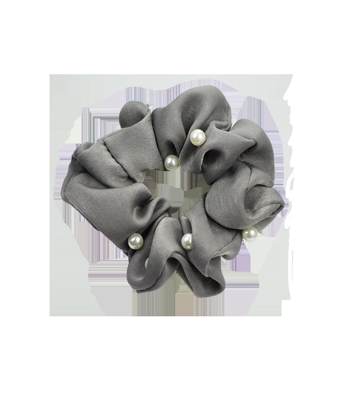 Bow`s by Stær hårelastik m. perler - Grå