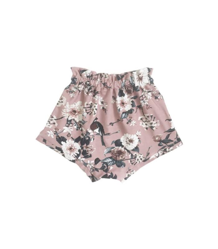 Shorts - Gammelrosa M. Print - Petitflora