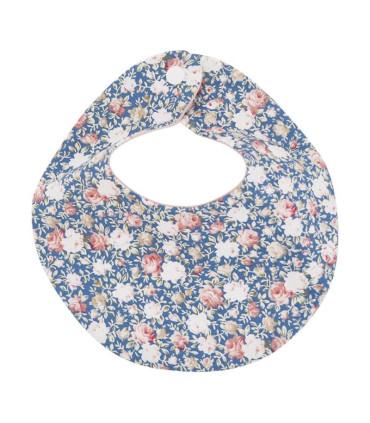 Savlesmæk m. blomster - blå - Petitflora
