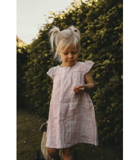 Hør kjole - Rosa - Petitflora