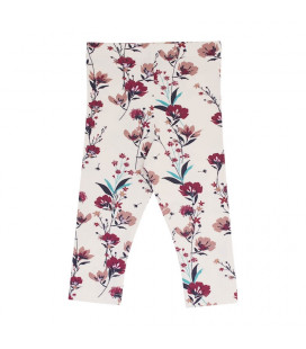 Petitflora - Cornelia leggings - creme m. blomster