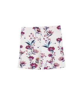 Baby shorts - creme m. blomster - Petitflora