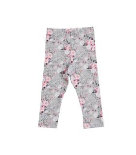 Petitflora - Sisse leggings - grå m. blomster