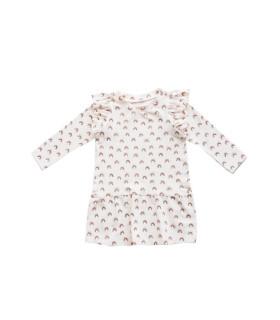Kjole med flæser - Sofie - Petitflora
