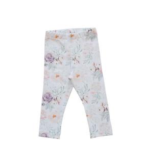 Hvide leggins med blomster - Petitflora
