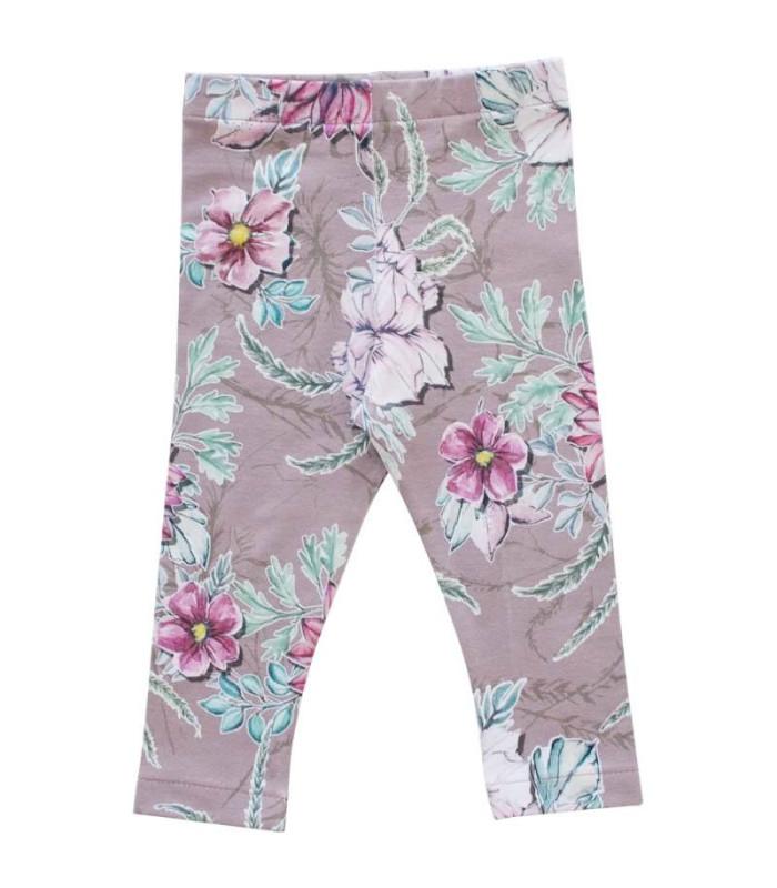 Farvede leggings - lyng med blomster - Petitflora