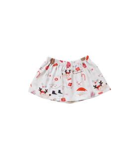 Nederdel til piger med julemotiv - grå