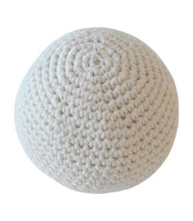 Håndhæklet bold / stor - Hvid