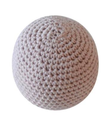 Håndhæklet baby bold / lille - Nude