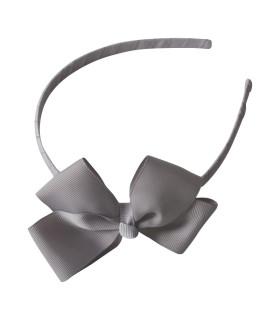 Bows by stær hårbøjle med sløjfe - grå