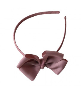 Bow`s by Stær hårbøjle m. sløjfe - Antique rosa