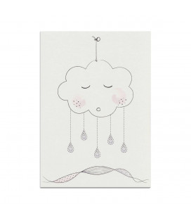 My mini label - Cloud Rose A4