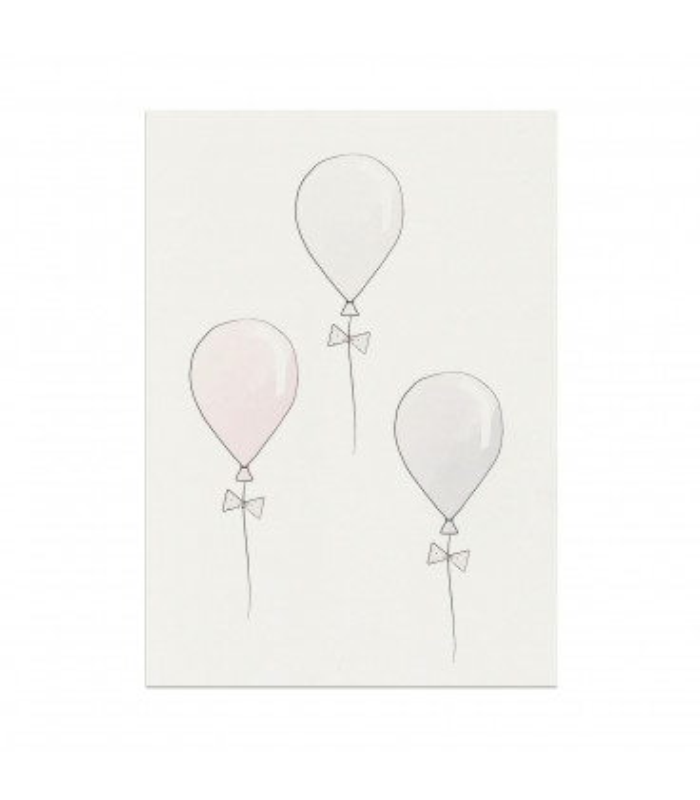 My mini label - Balloon Rosa A4