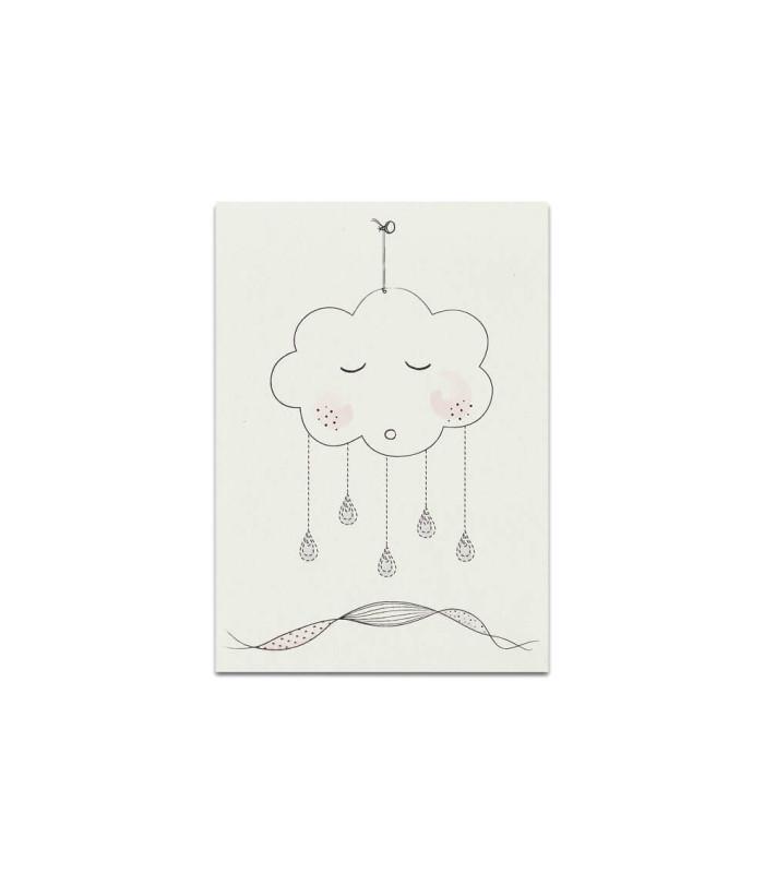 My mini label - Cloud rose A5