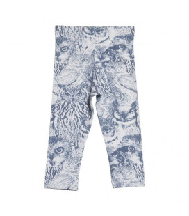 Leggings med ugleprint - pudder