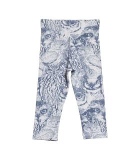 Leggings til piger med ugleprint - Petitflora