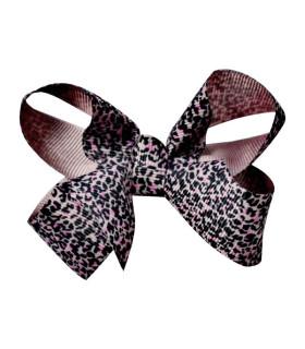 Bows by Stær hårsløjfe - Leopard rosa