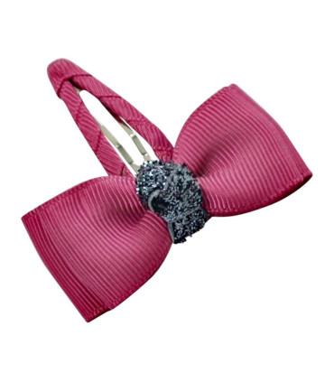 Bow`s by Stær hårspænde med glimmer - Victorian rose