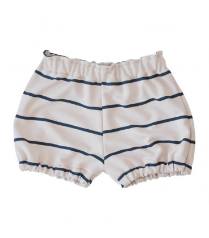 Shorts - Stribet pudder farvet