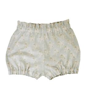Shorts - Sart grøn med hvidt mønster