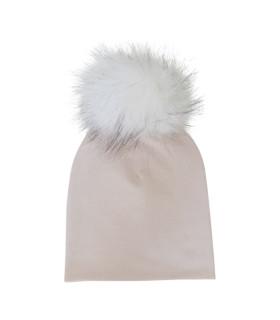 Pige hue - pudder med pelskvast
