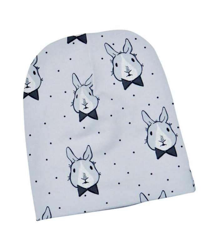 Drengehue med kaniner - grå
