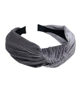 Bows by stær hårbøjle | Velour | grå