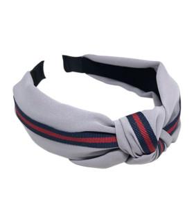 Bows by stær hårbøjle - single stripe grey