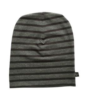 Stribet babyhue - sort / koksgrå